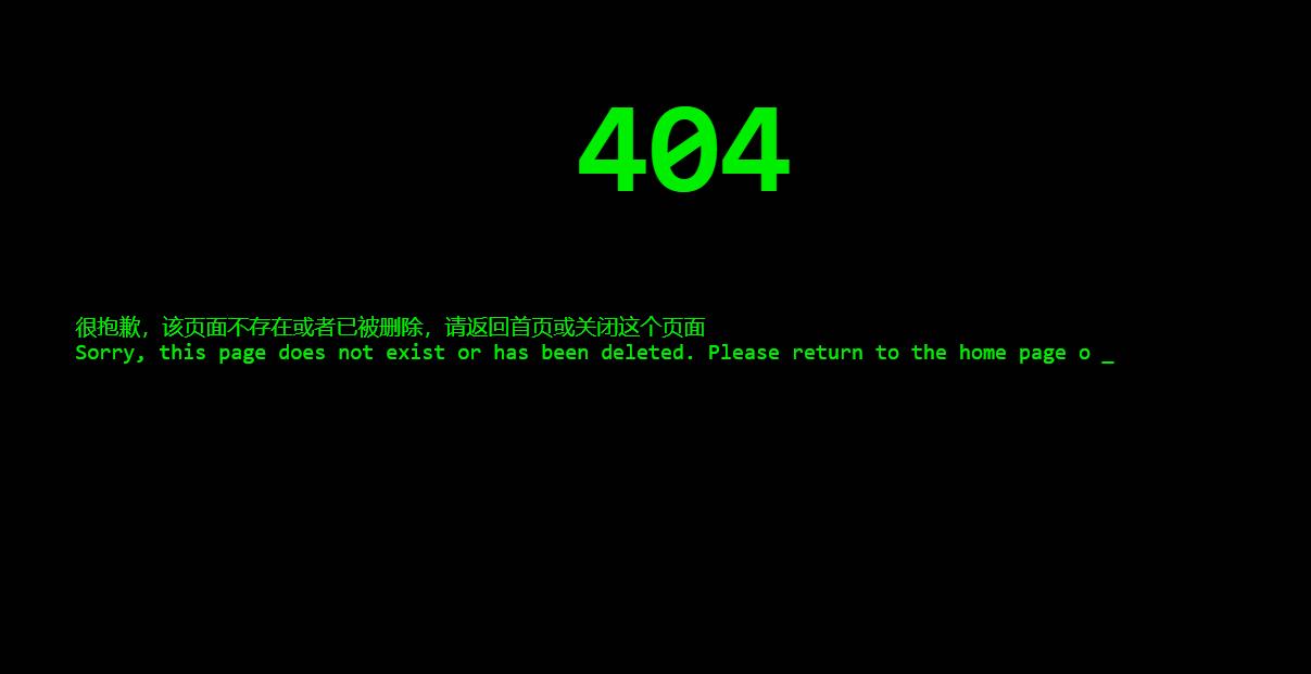 代码输入效果404页面源码